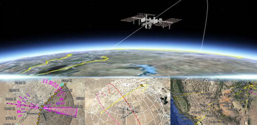 An image of satellite with plot points