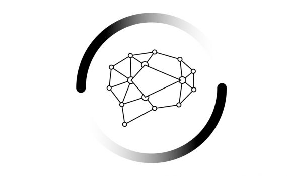 AI logo of a brain connected by dots with two swoosh symbols circling around it for Army Aviation