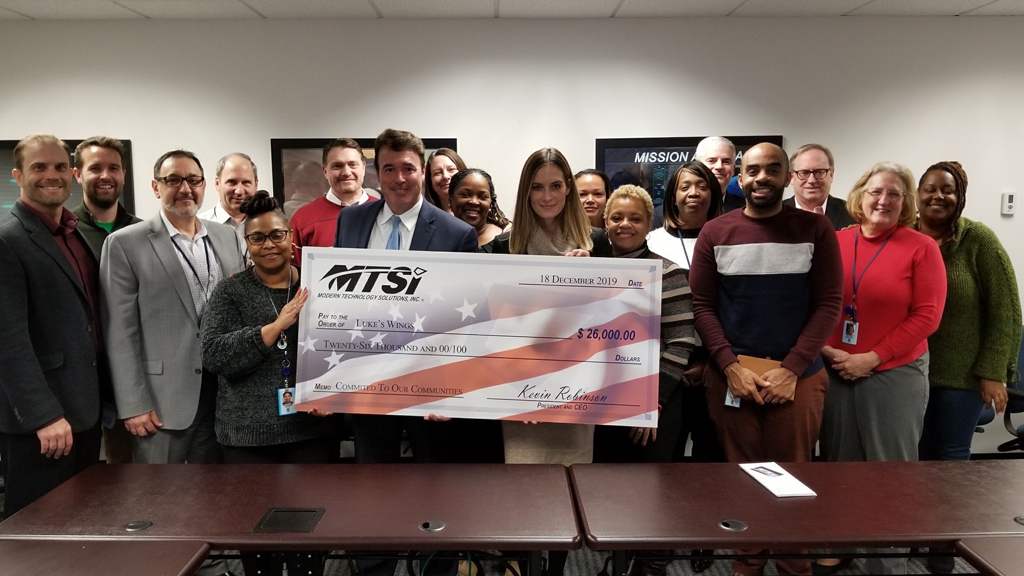 MTSI donates to Luke's Wings