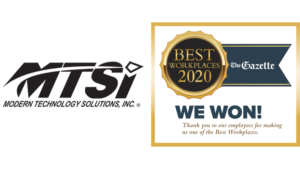 MTSI Ranks Amongst The Top 3 Best Workplaces 2020 By The Colorado Gazette, Second Year In A Row